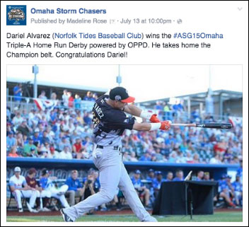 Sample of Facebook content generated during the week of the All-Star Game.