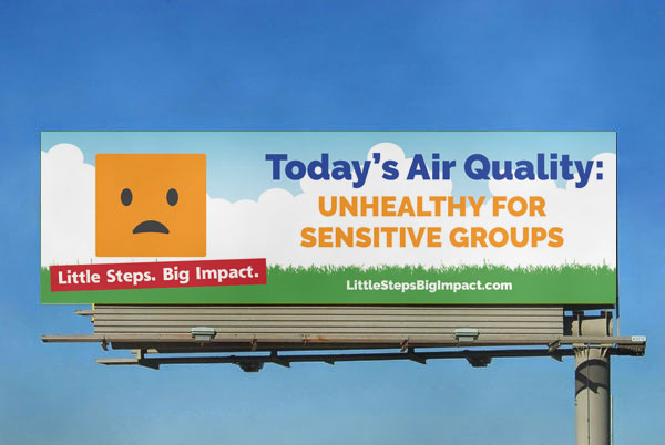 A billboard that showed the current Air Quality Index, by linking directly to data from AirNow.gov